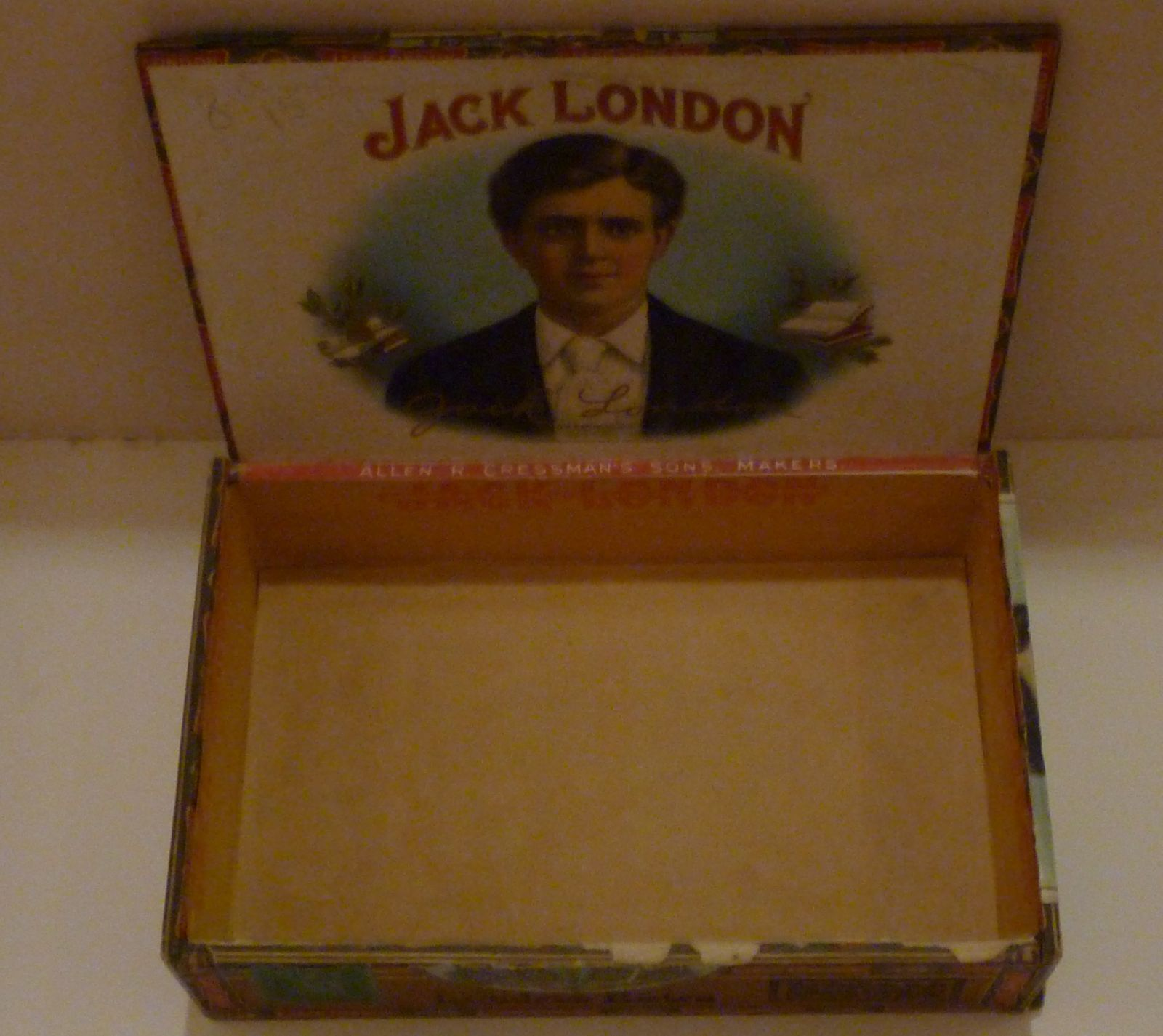Image for Cigar Box with art work depicting a young Jack London