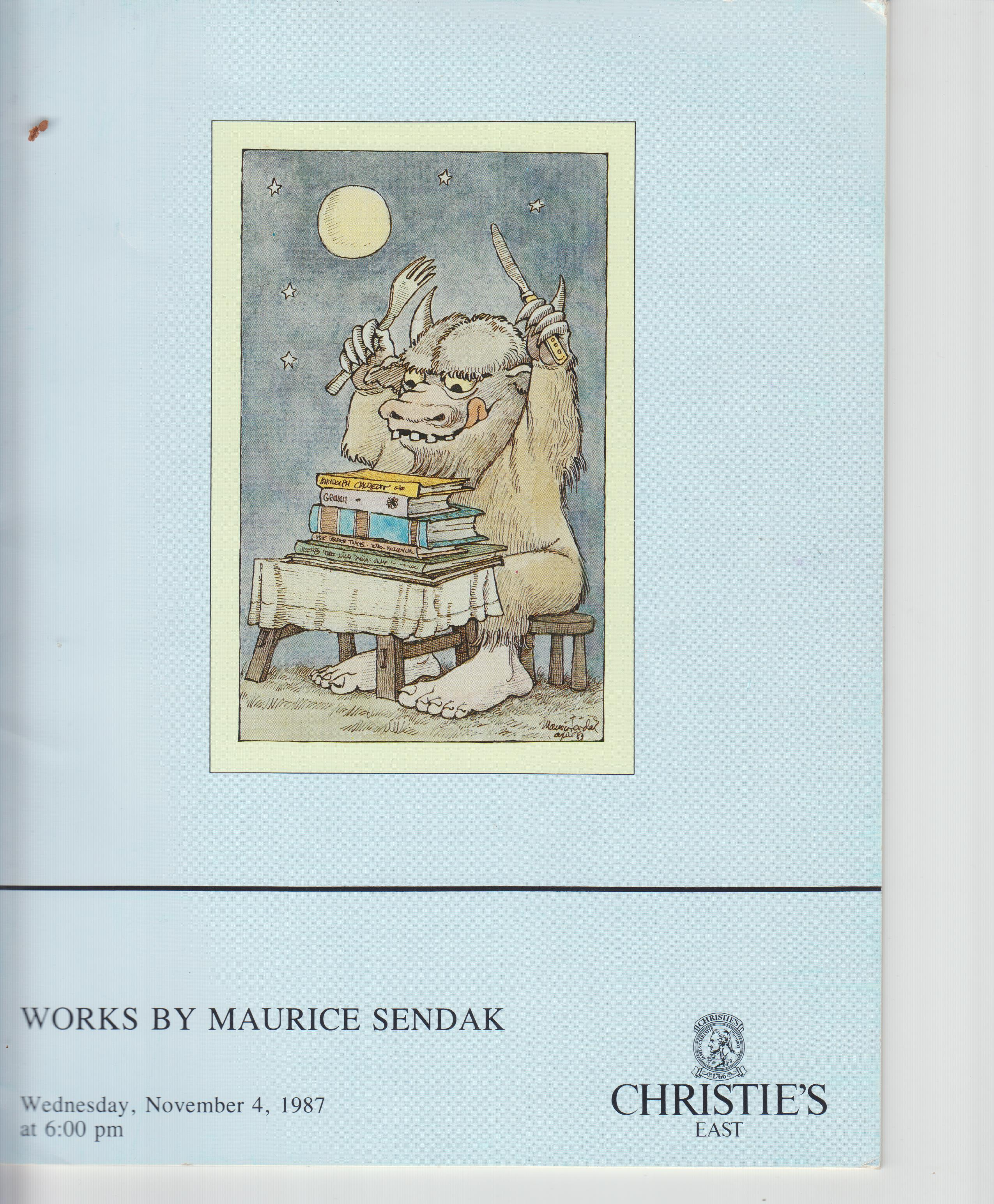 Image for Works by Maurice Sendak, Wednesday, November 4, 1987 At 6: 00 Pm