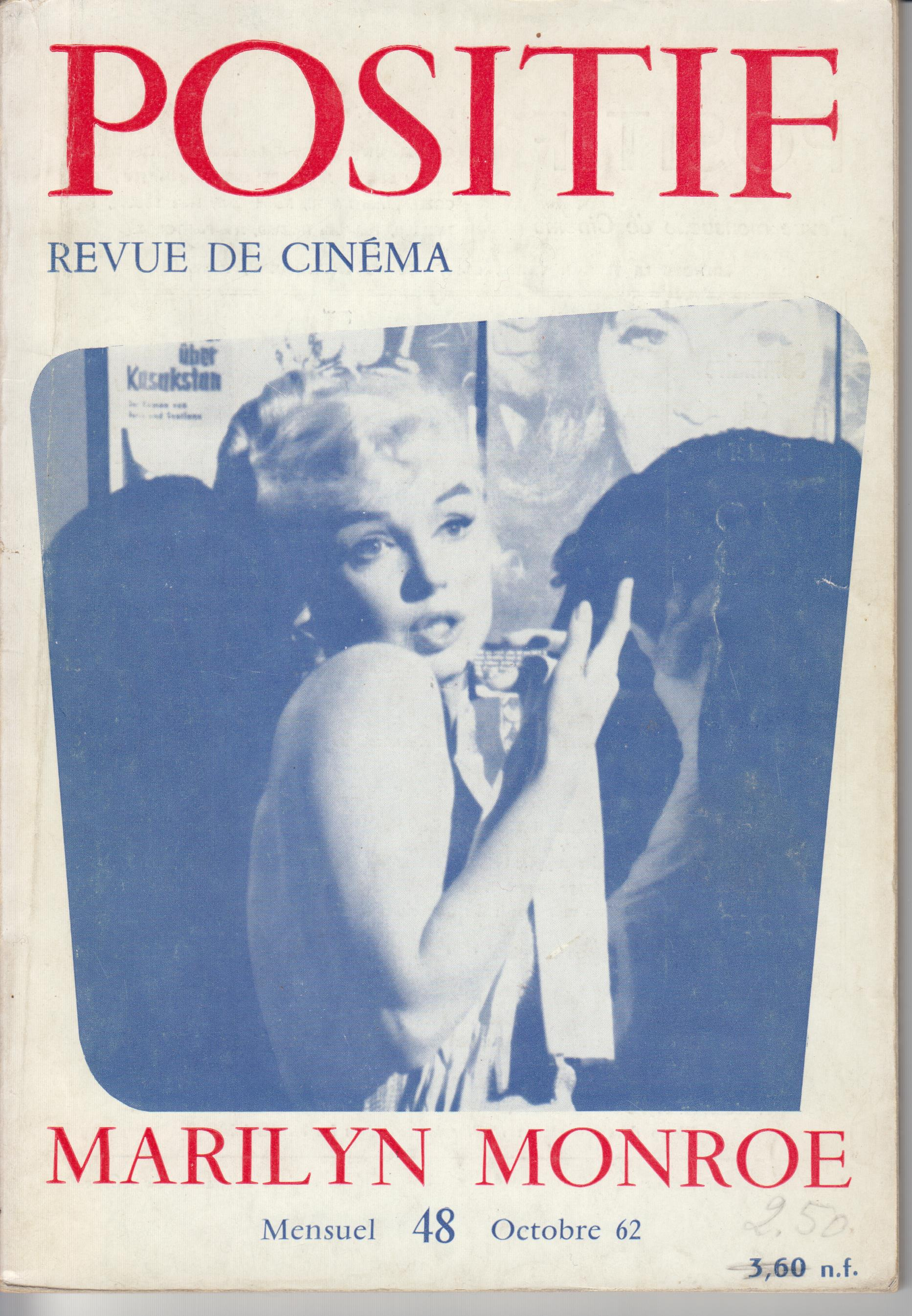 Image for Cover Photo on Positif. Revue De Cinema 48 (October, 1962)