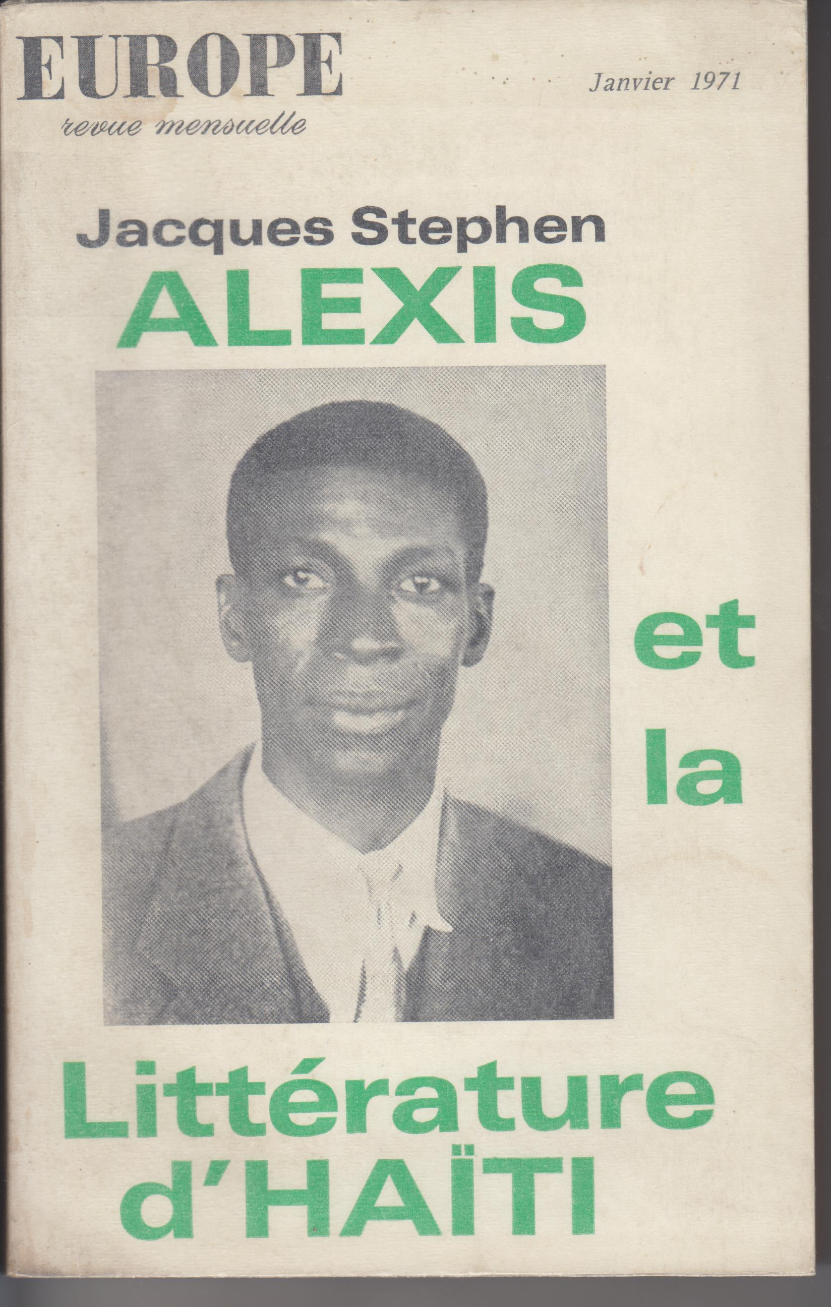 Image for Jacques Stephen Alexis Et La Litterature D'Haiti (Europe No. 501, January 1971)