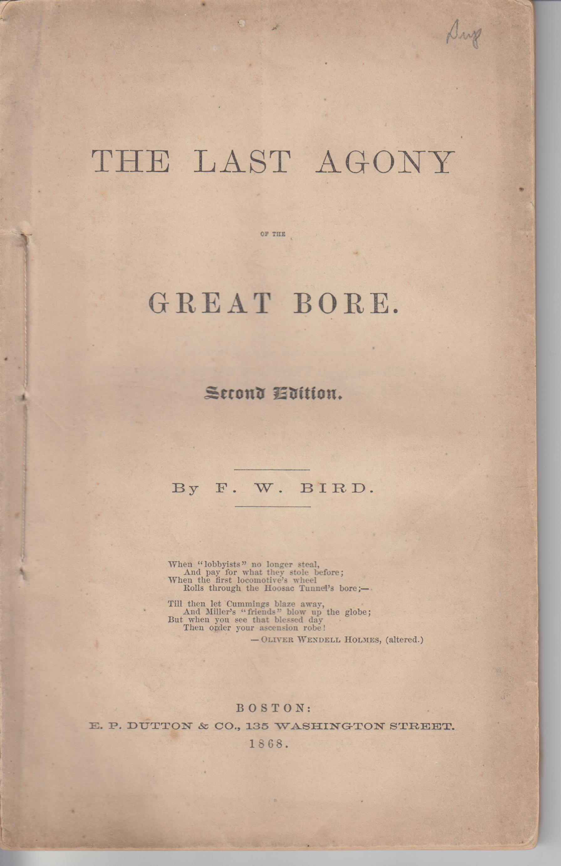 Image for The Last Agony of the Great Bore