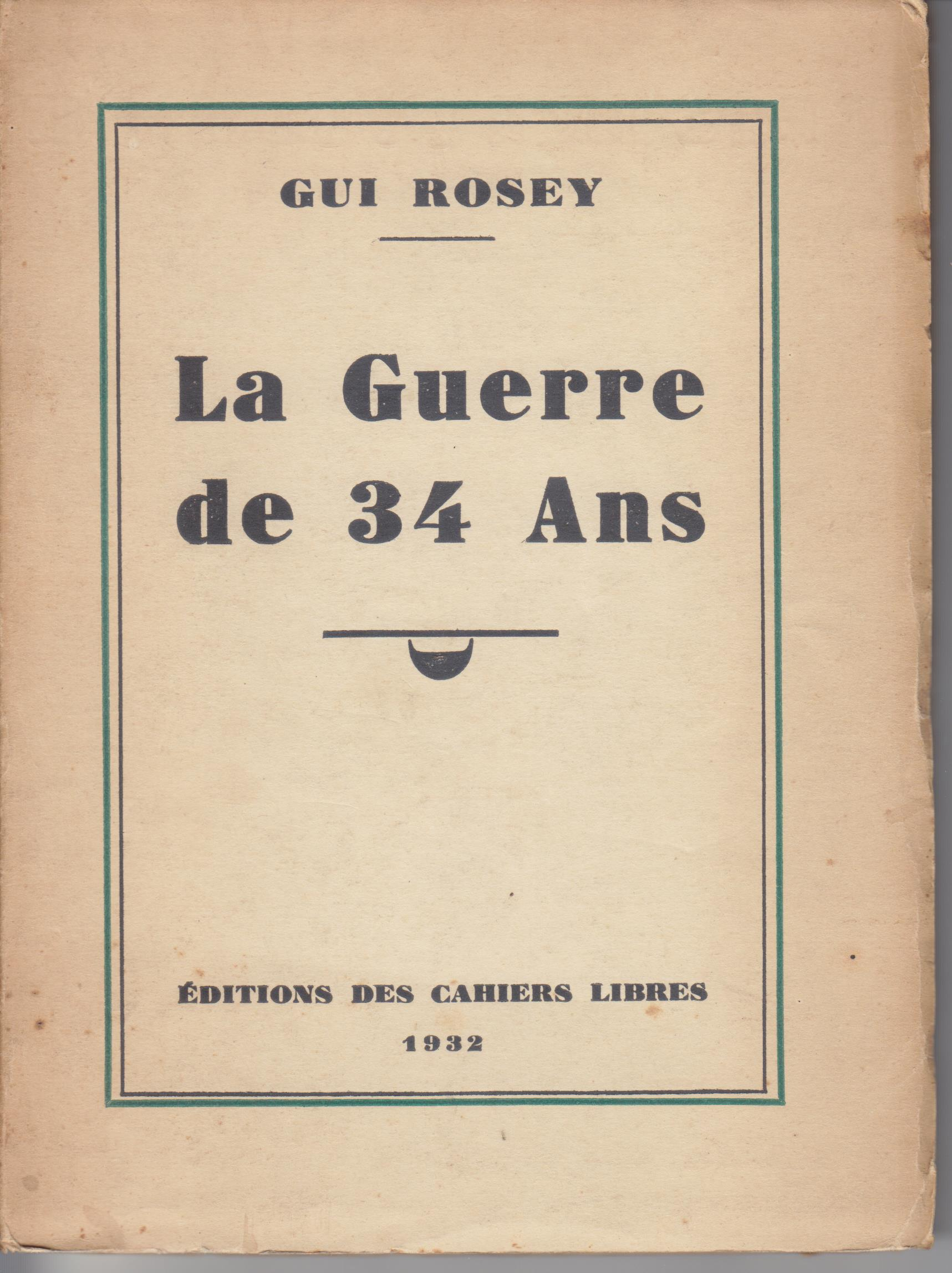 Image for La Guerre De 34 Ans