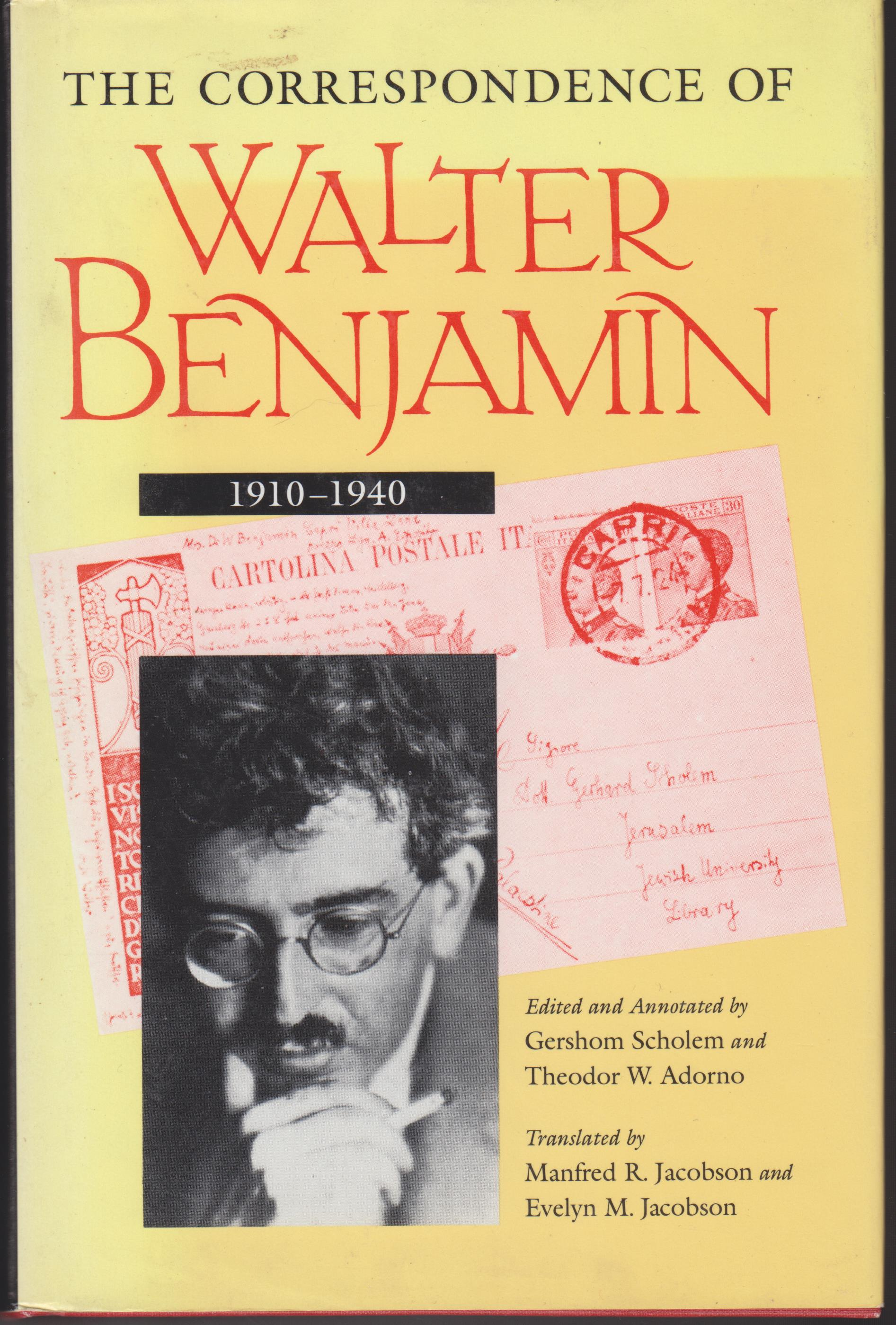 Image for The Correspondence of Walter Benjamin 1910-1940