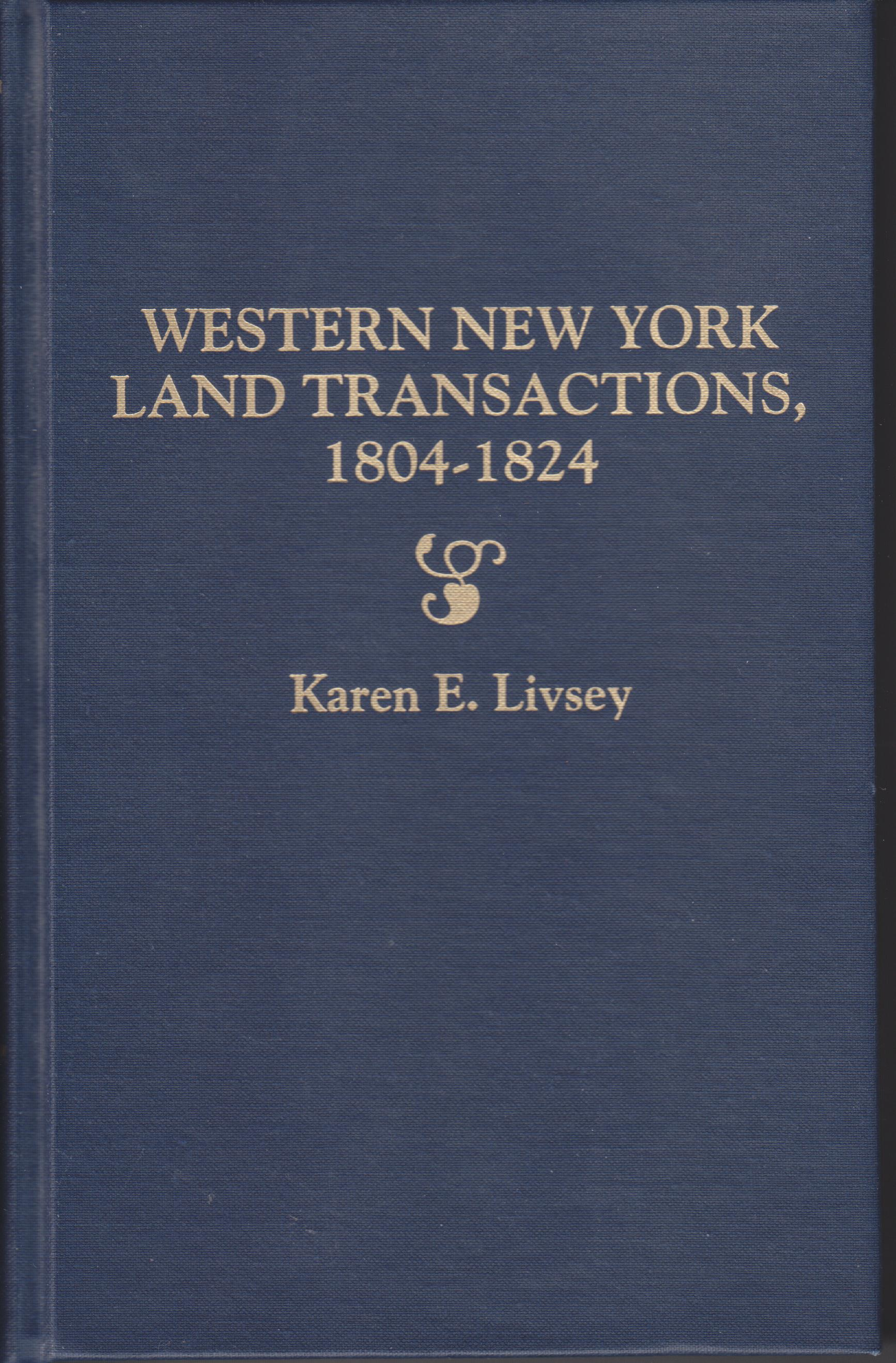 Image for Western New York Land Transactions 1804 - 1824