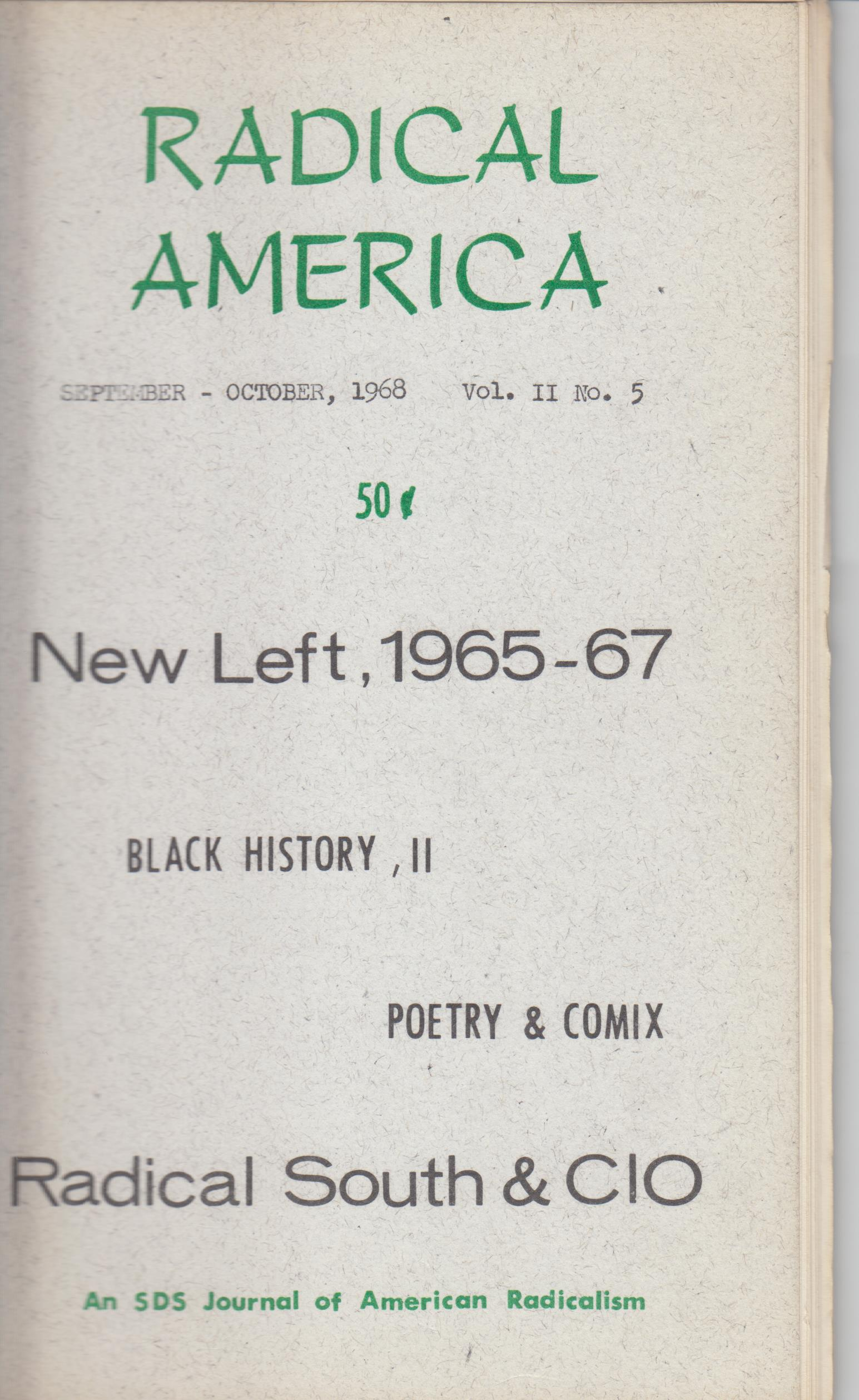 Image for Radical America, Vol.  II, No. 5 (September-October, 1968)