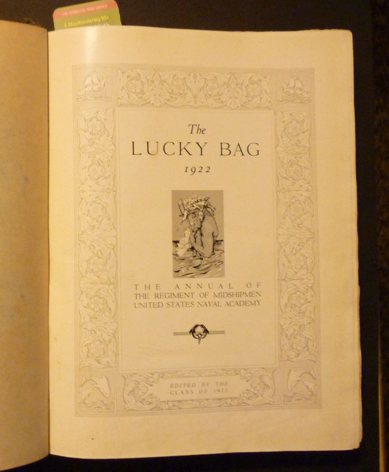 Image for The Lucky Bag 1922. The Annual of the Regiment of Midshipmen United Naval Academy
