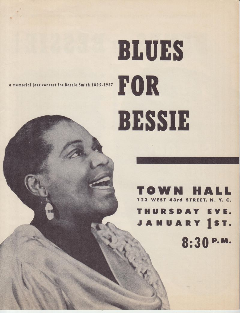 Image for Blues For Bessie. A Memorial Jazz Concert for Bessie Smith, 1895-1937 [Program]