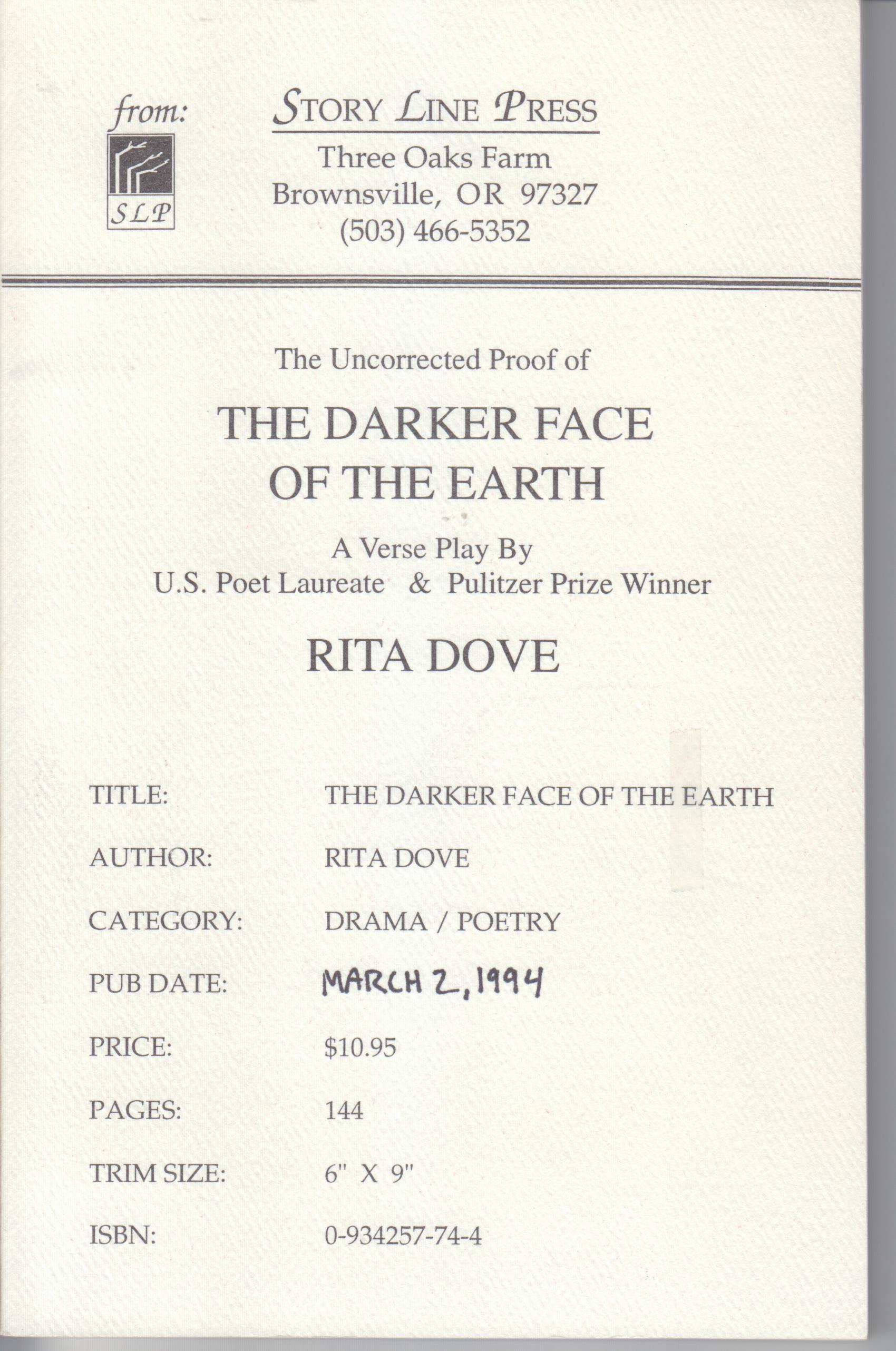 Image for The Darker Face of the Earth
