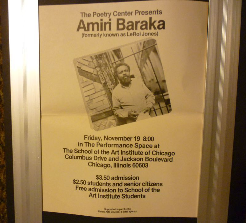 Image for The Poetry Center Presents Amiri Baraka (formerly known as LeRoi Jones [photo]  Friday, November 19 8:00 in the Performance Space at The School of the Art Institute of Chicago, Columbus Drive and Jackson Boulevard, Chicago, Illinois 60603...