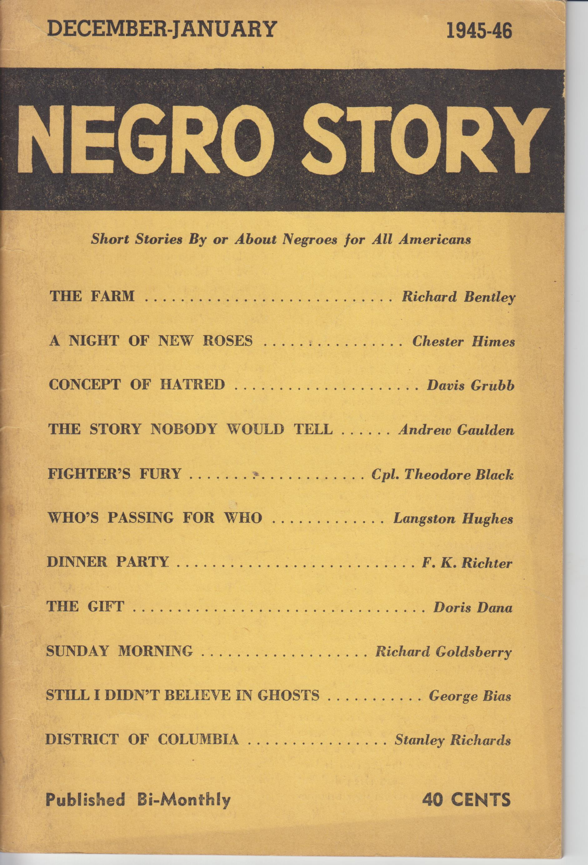Image for Negro Story Volume II: Number 2 (December 1945-46)