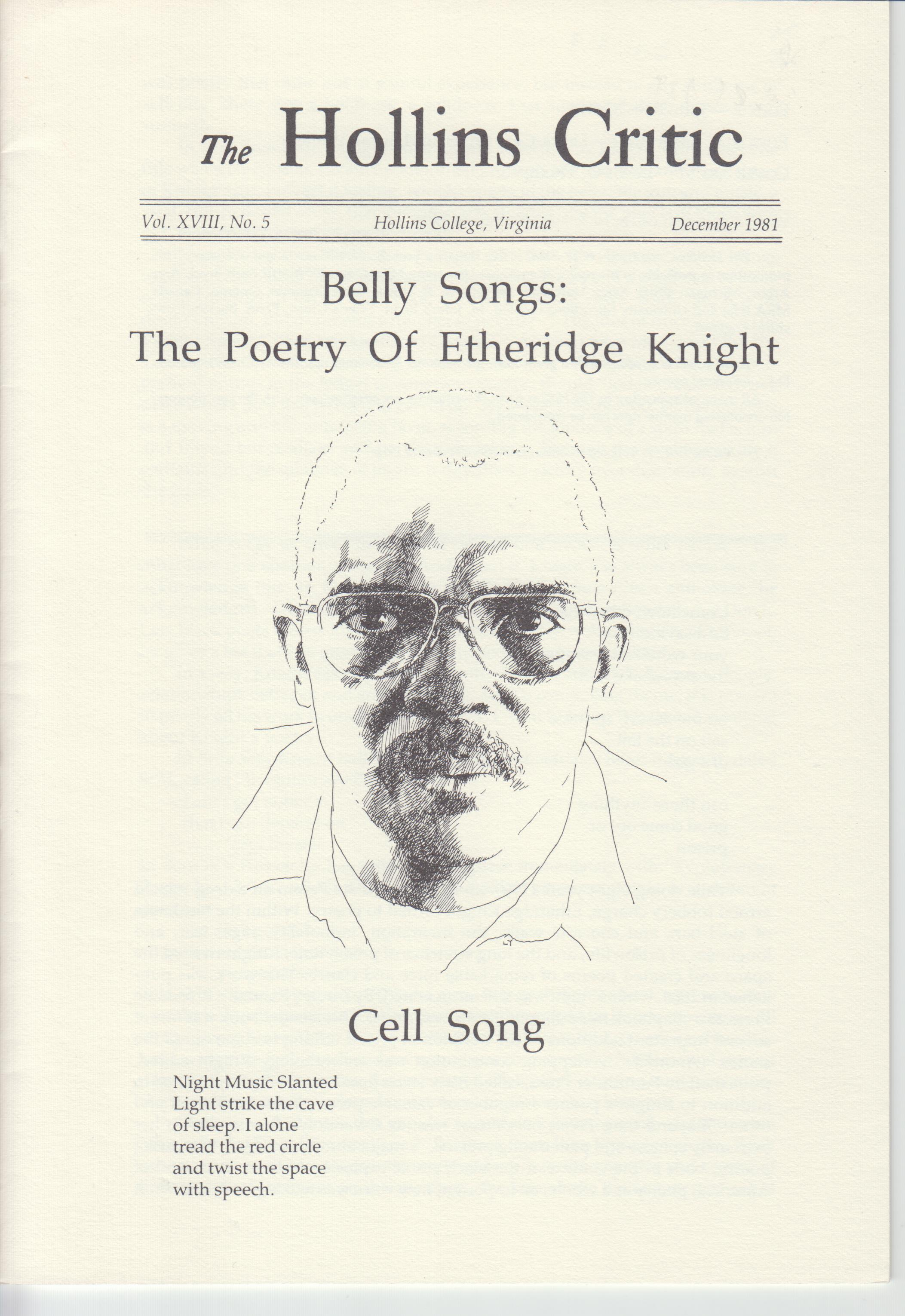Image for Belly Songs: The Poetry of Etheridge Knight