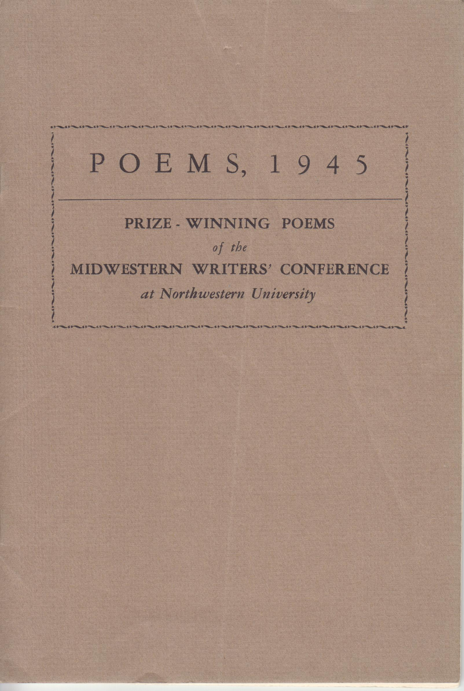 Image for People Protest in Sprawling Lightless Ways, in Poems, 1945. Prize-Winning Poems at the Midwestern Writers' Conference at Northwestern University