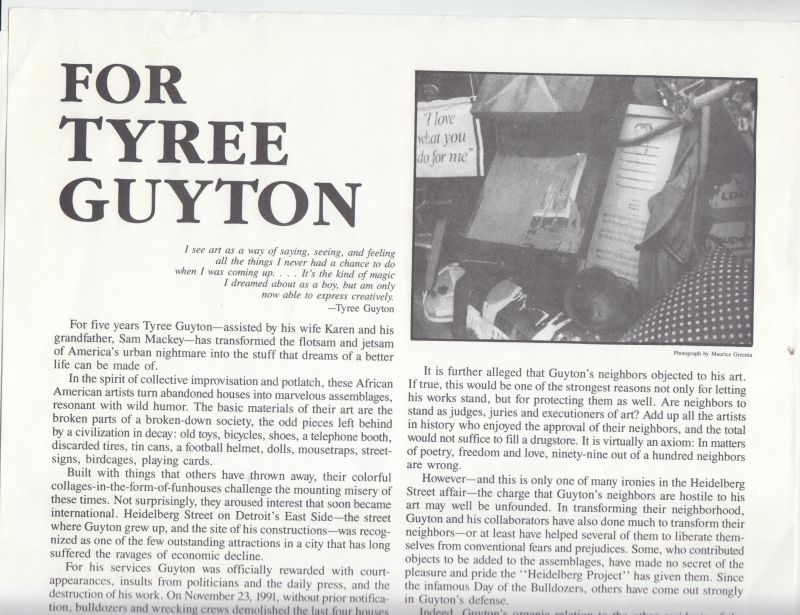 Image for For Tyree Guyton