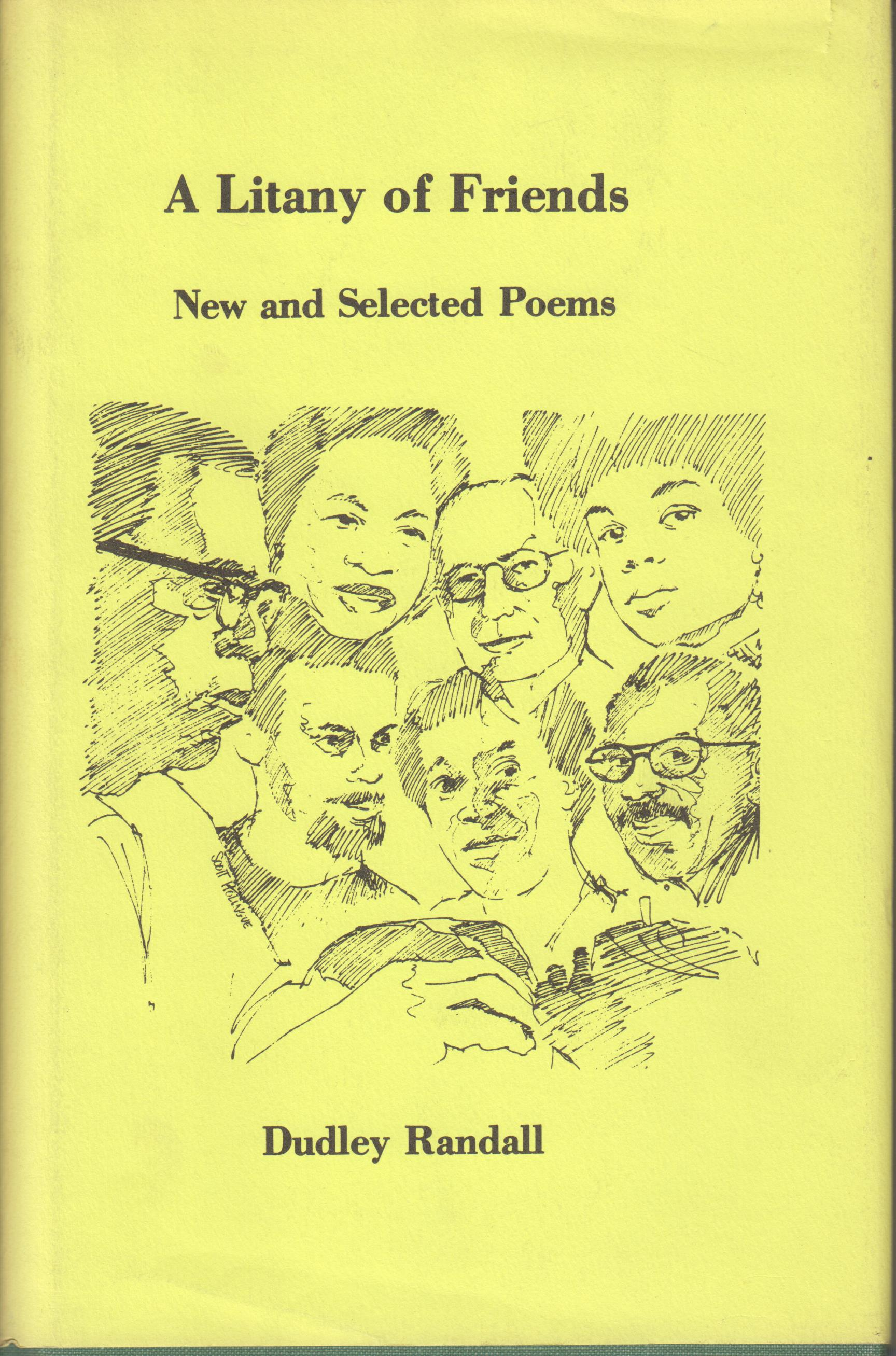Image for A Litany of Friends. New and Selected Poems