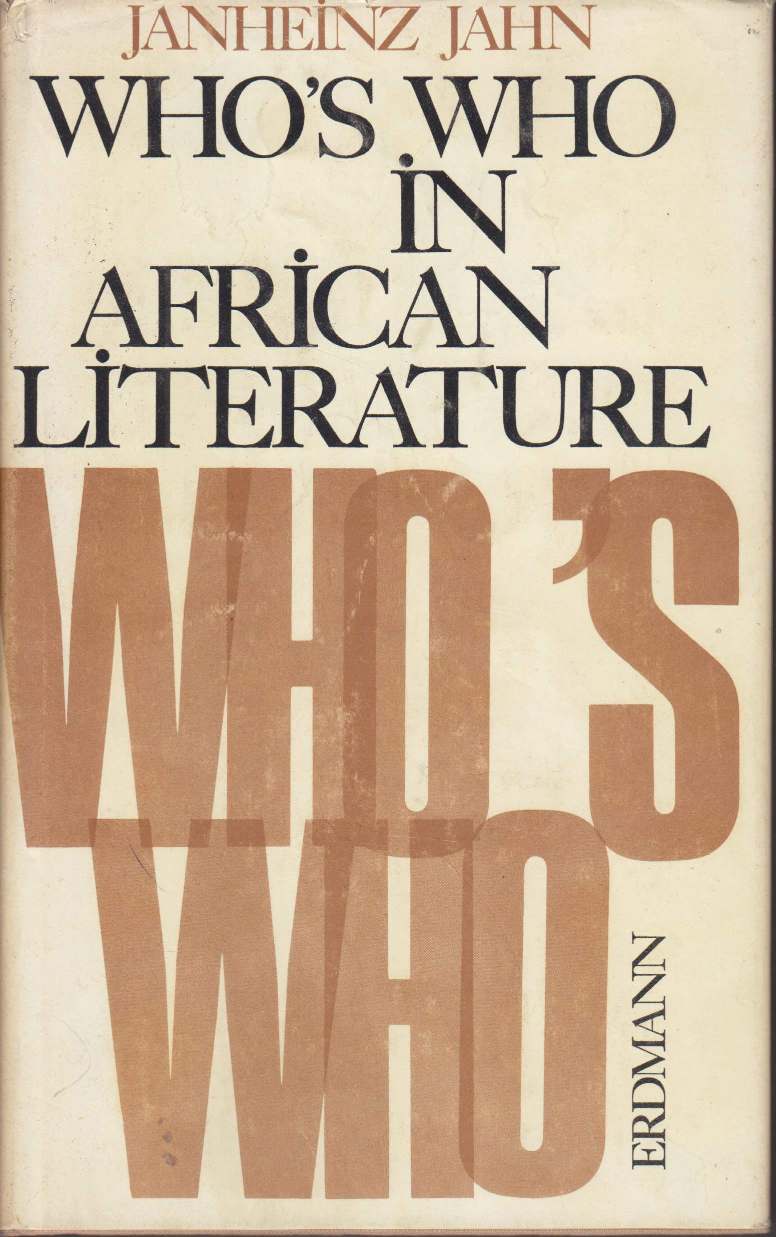 Image for Who's Who in African Literature. Biographies, Works, Commentaries