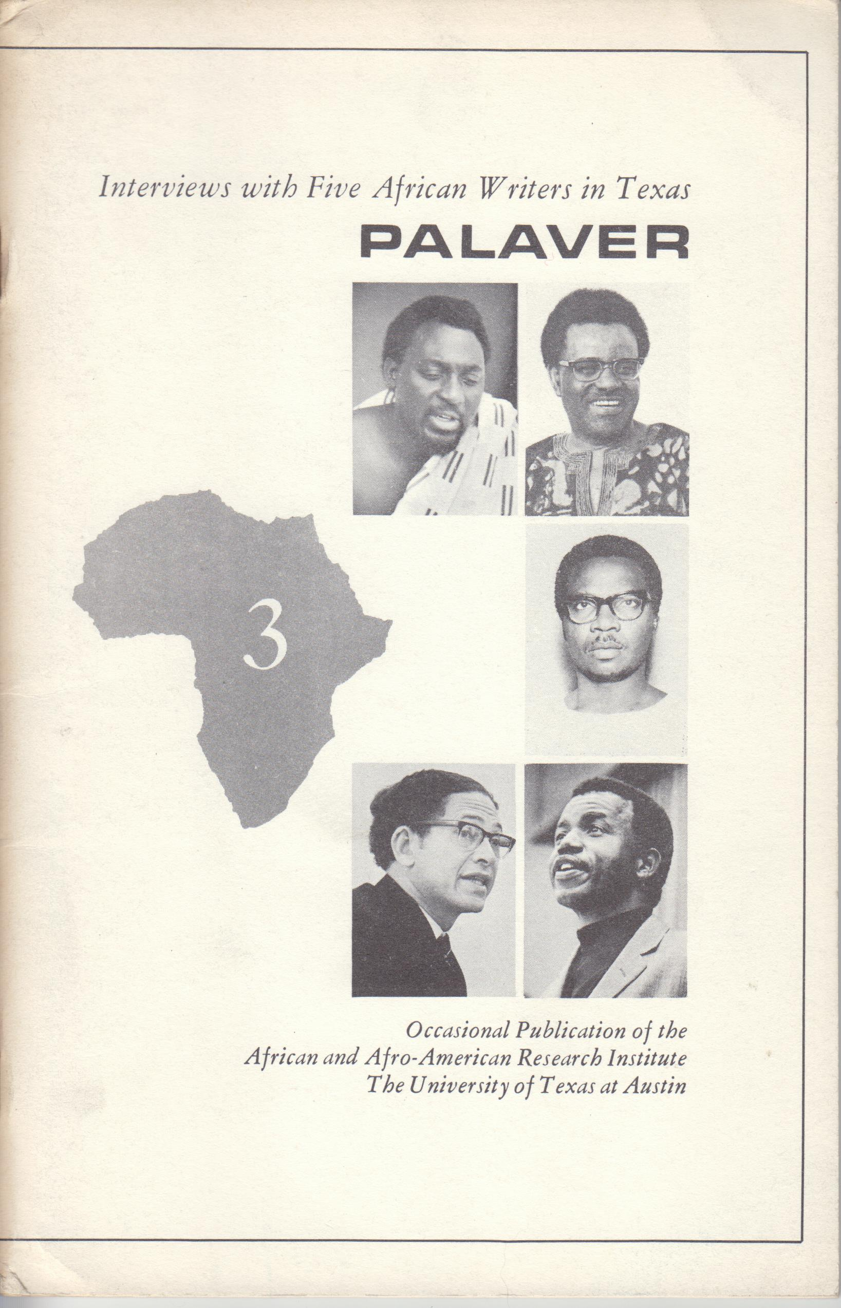 Image for Palaver. Interviews with Five African Writers in Texas