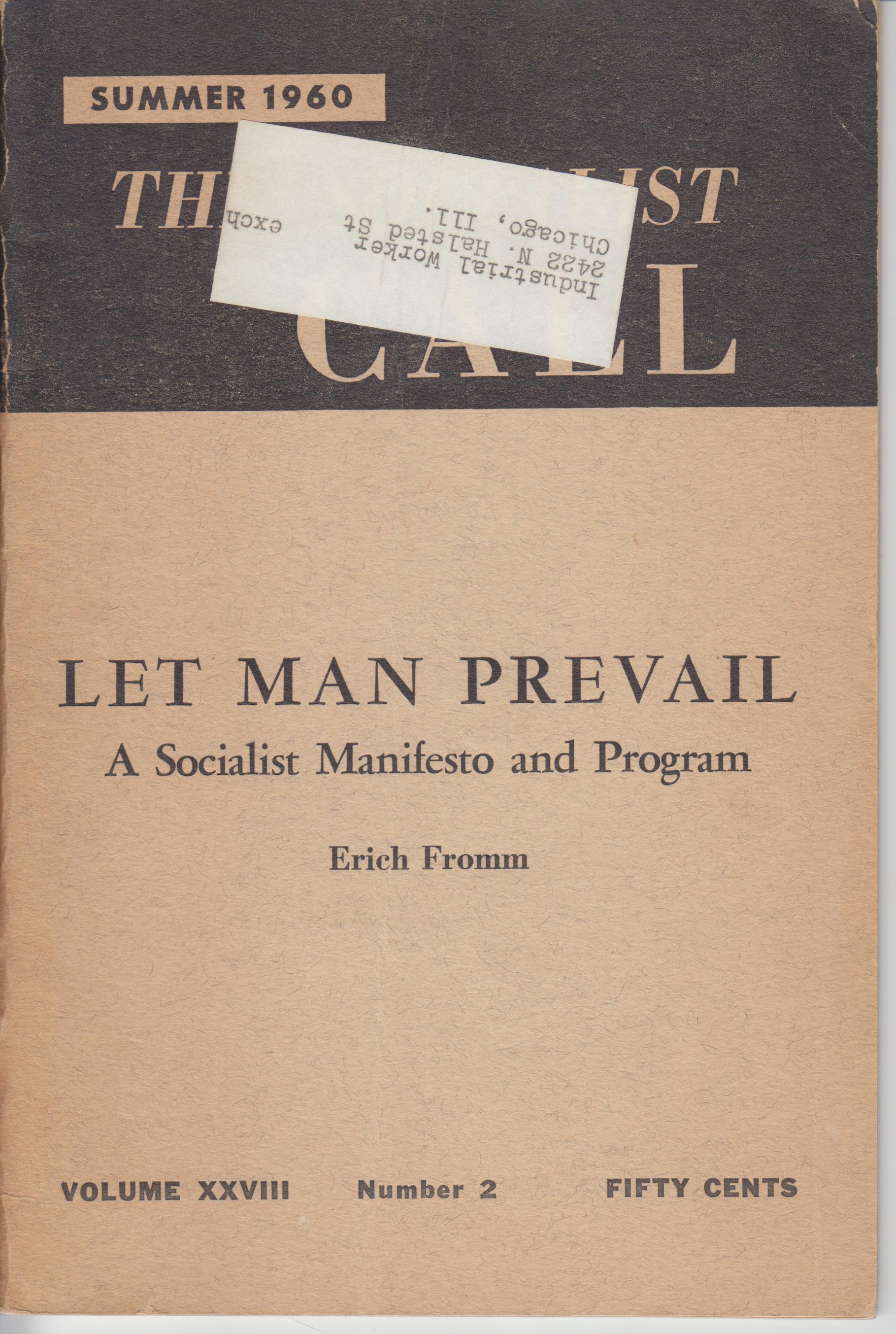 Image for Let Man Prevail. a Socialist Manifesto and Program