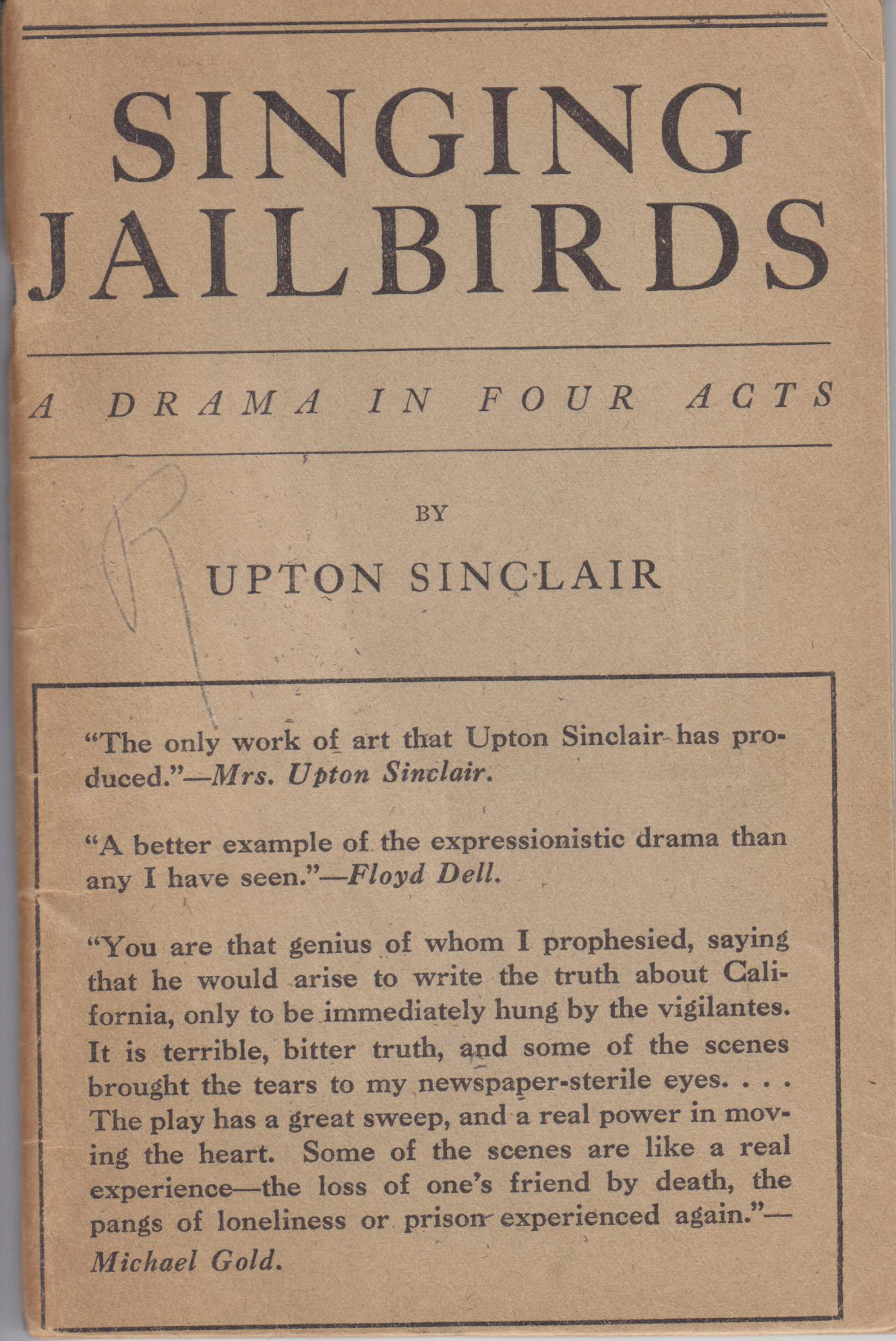 Image for Singing Jailbirds. a Drama in Four Acts