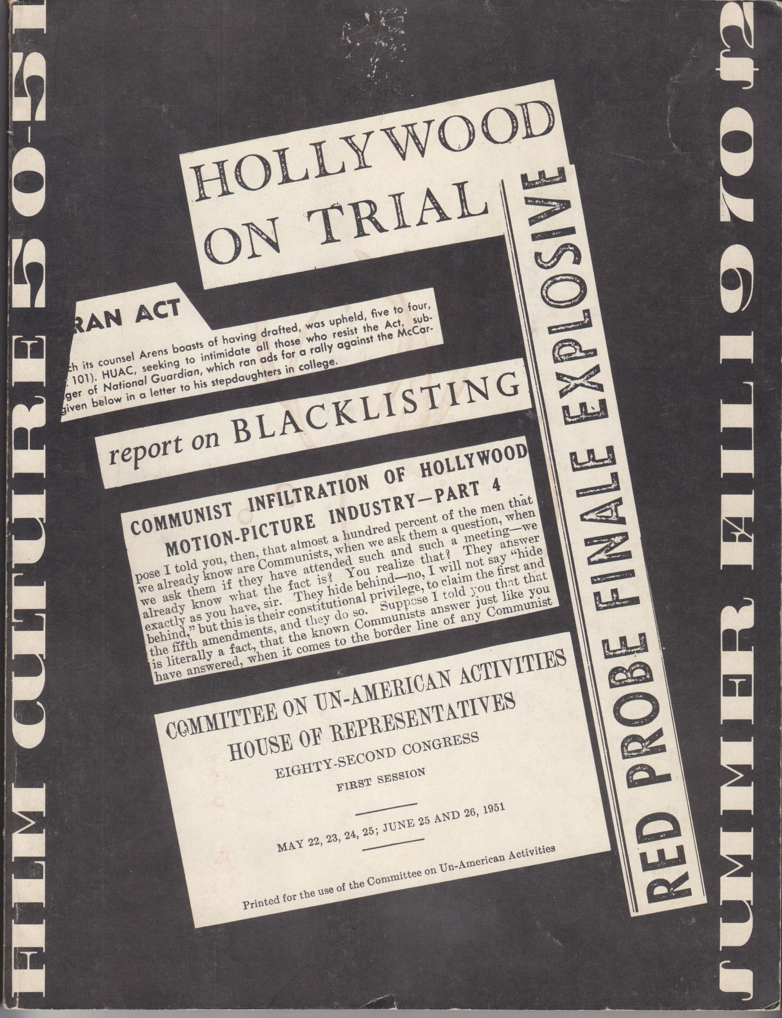"Image for Film Culture 50-51. (Hollywood Blacklisting) Cover title:  ""Hollywood on Trial"""