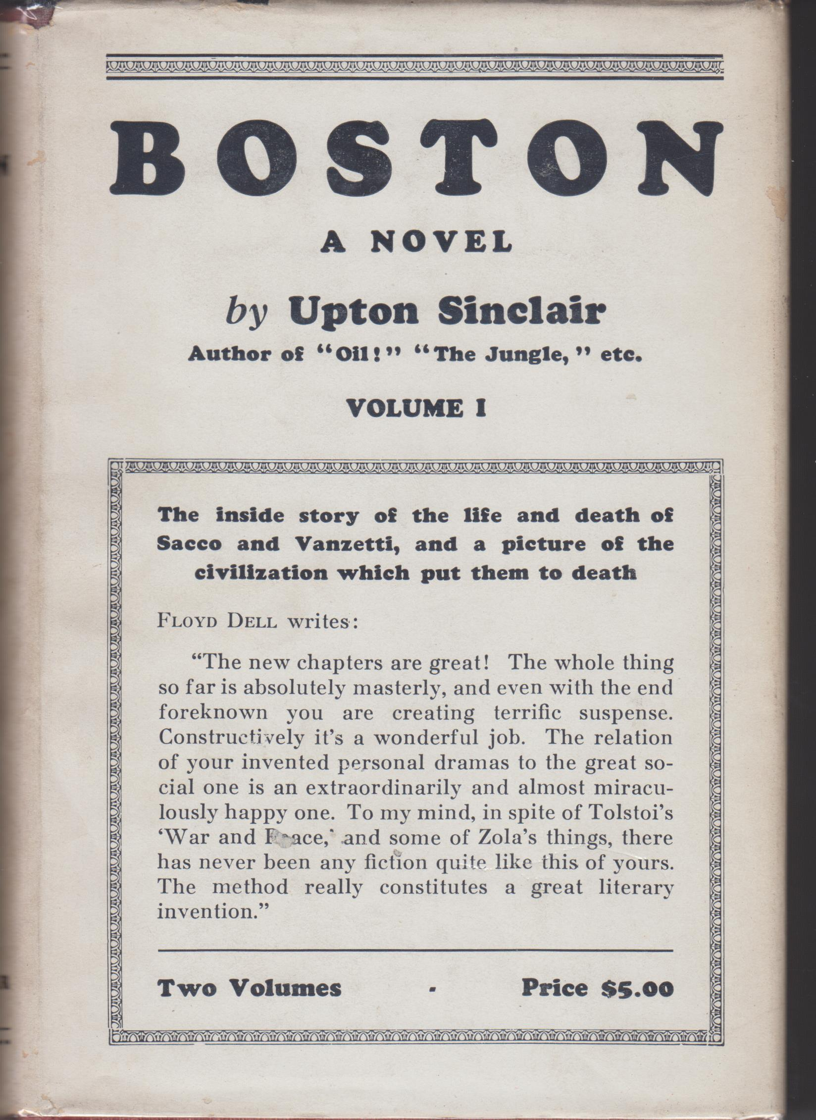 Image for Boston, Volumes I and II