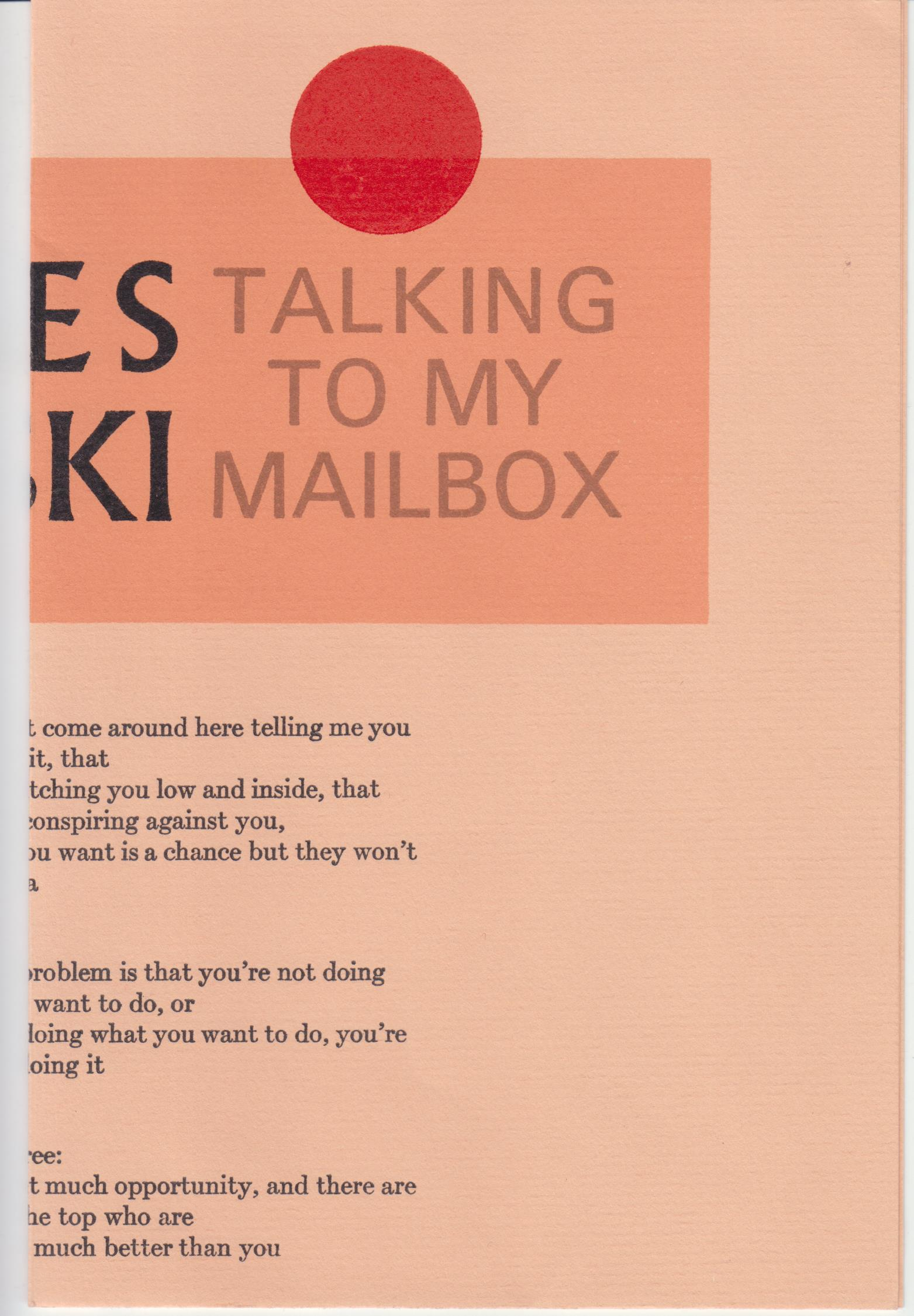 Image for Talking To My Mailbox