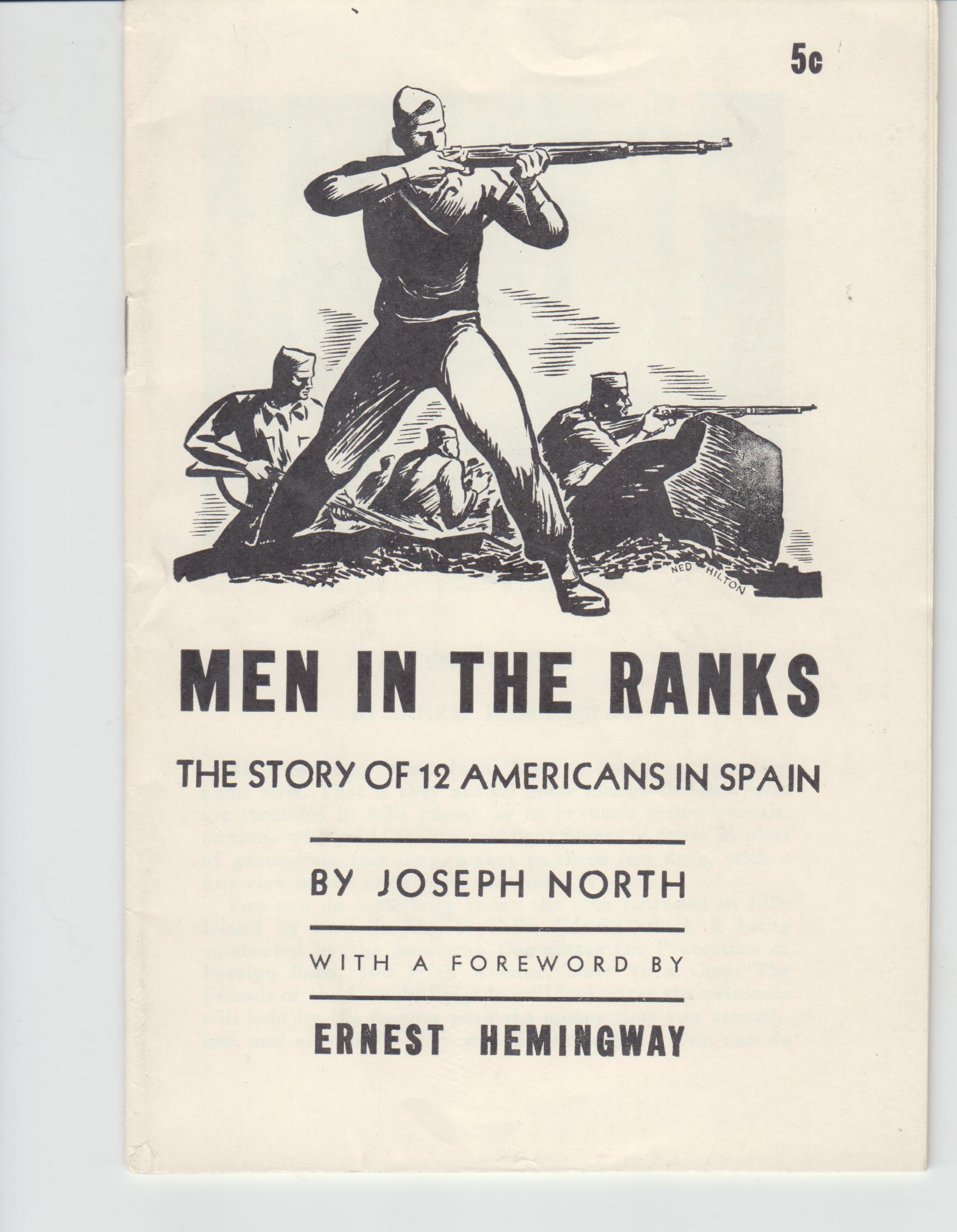 Image for Men in the Ranks. The Story of 12 Americans in Spain