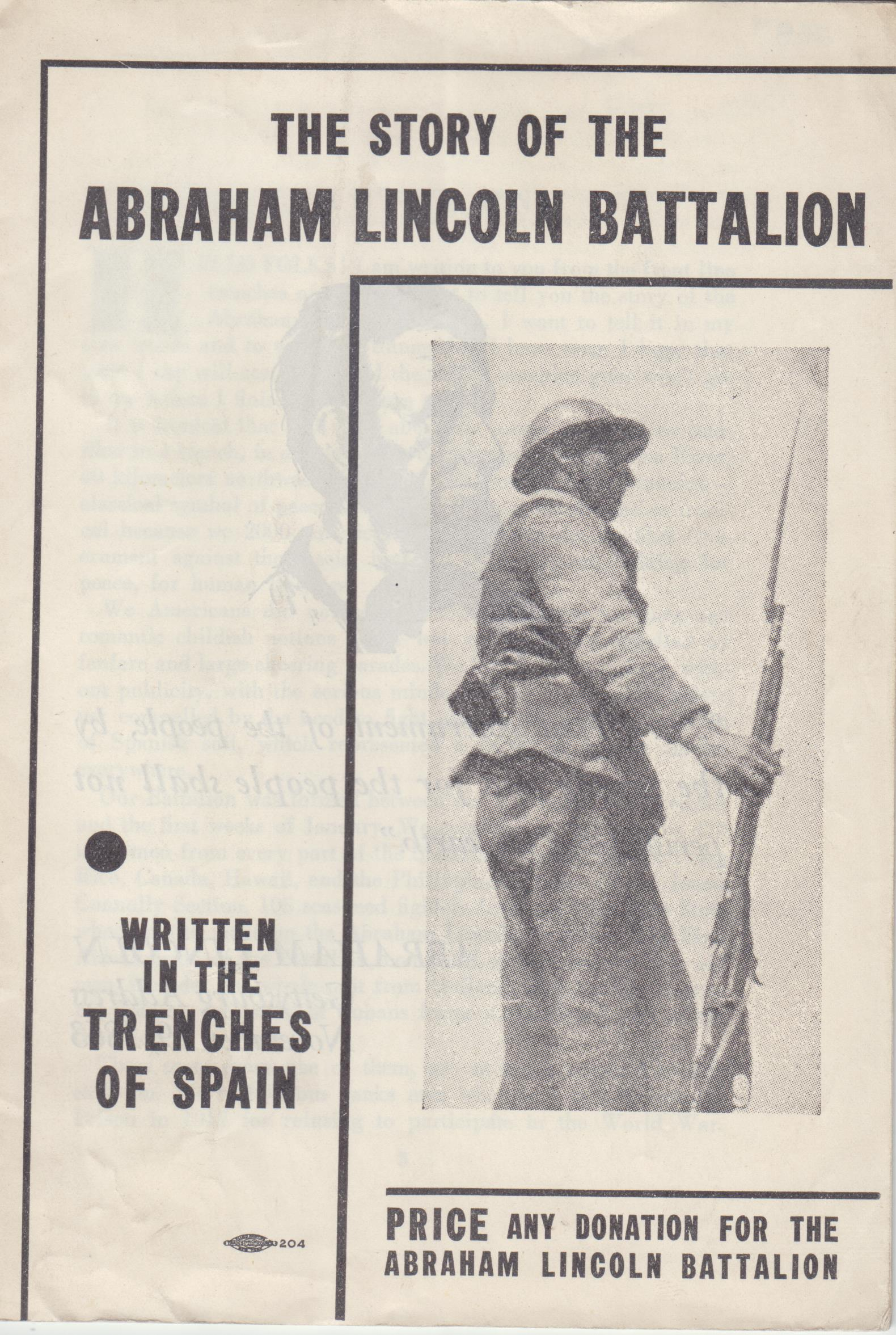 Image for The Story of the Abraham Lincoln Battalion
