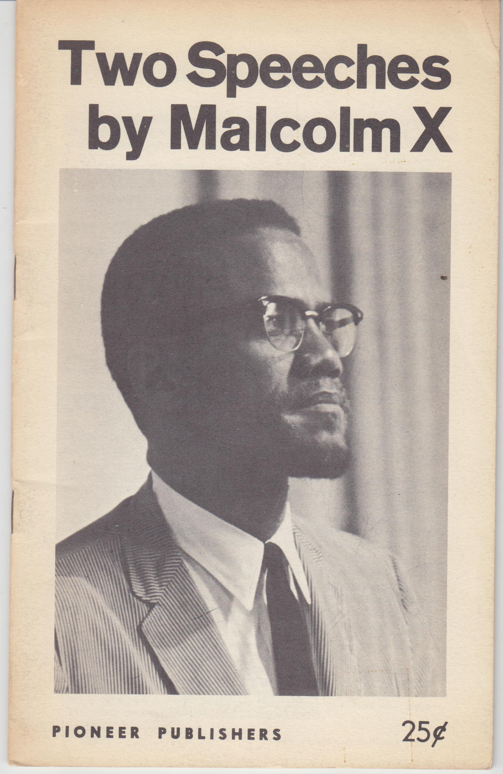 Image for Two Speeches by Malcolm X