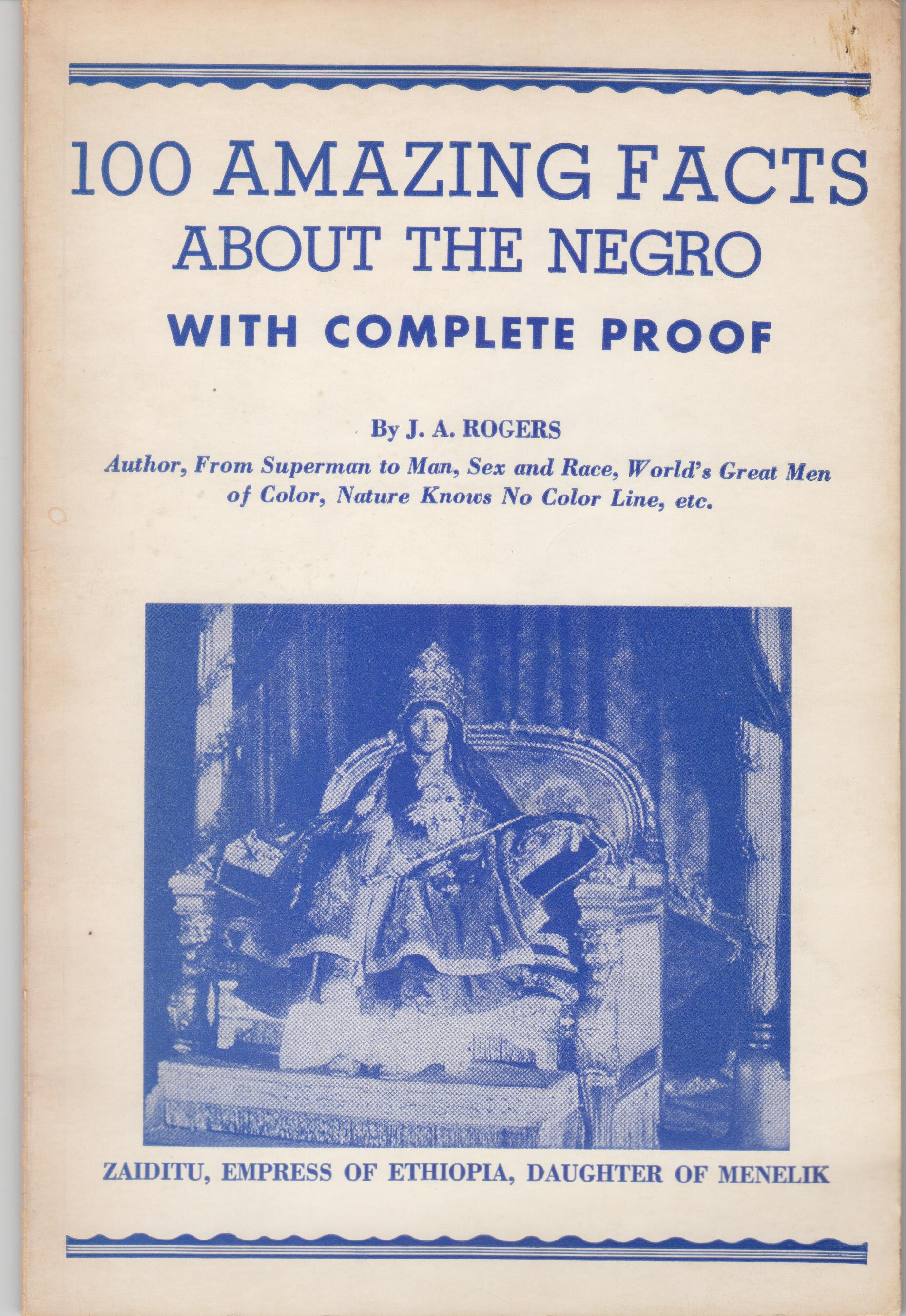 Image for 100 Amazing Facts about the Negro, with Complete Proof
