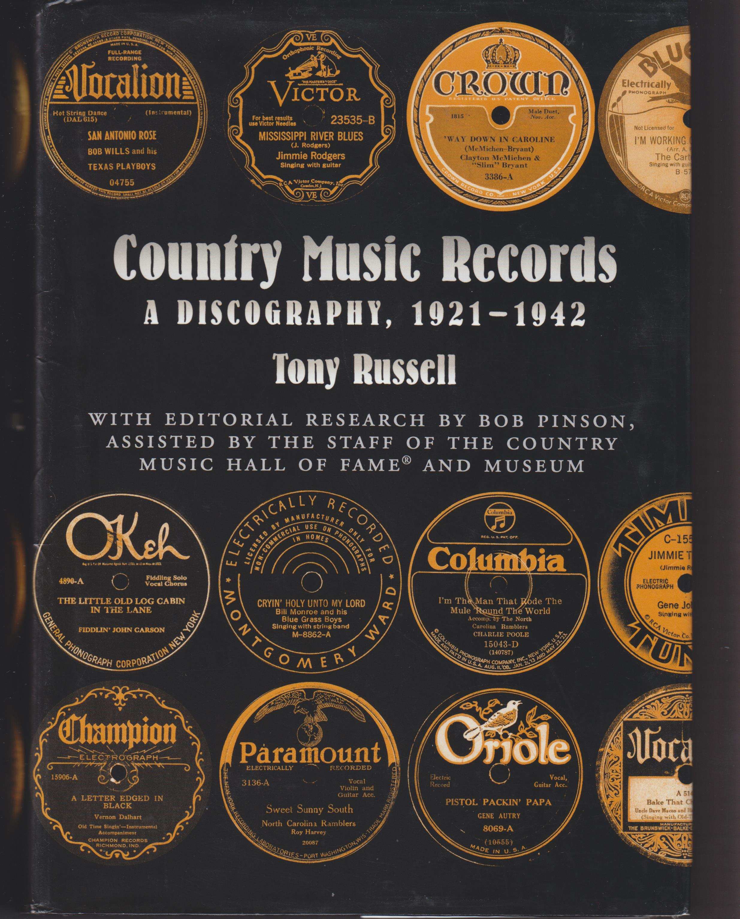 Image for Country Music Records  A Discovery 1921-1942